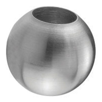 "Galvanized Steel Sphere 1"" Dia. Dead Hole, 1/2"" Di"