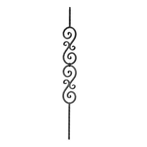 "Indital Double scroll design, 1/2"" sq. x 4 15/16"" wide ..."