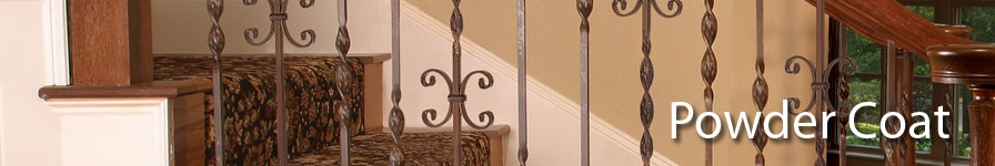Indital PC8-6-0001 Powder Coated Wrought Iron Baluster for Stairs and Railings Hammered Bar Design Classic Black 44 3//32 Height x 5//8 Sq Diameter