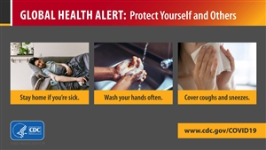 Protect Yourself Travel Health Alert Sign