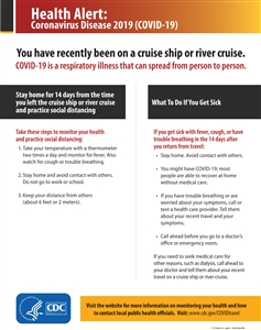 Traveler Health Alert Notice For Cruise Ships Sign