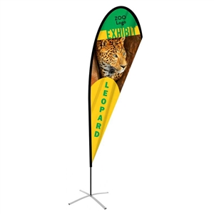 ffsdrop feather flag single-sided