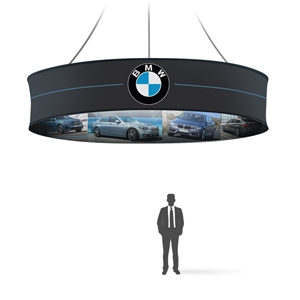Graphic 10ft Round Hanging 2-sides Banner 48in