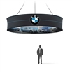 Graphic 12ft Round Hanging 2-sides Banner 36in