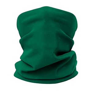 Versatile tubular neck gaiter face mask with a green design.