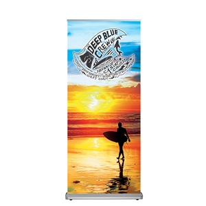 alpine banner stand with fabric graphic
