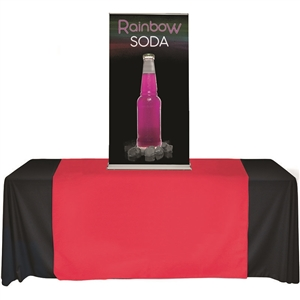 cascade table top banner stand 24x56