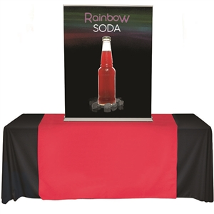cascade table top banner stand 36x60