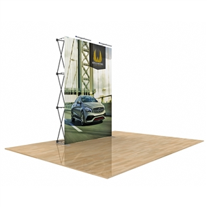 Star Fabric Pop-Up Display 5 Ft Without End Caps
