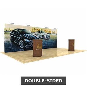 star fabric 20ft pop-up display double-sided