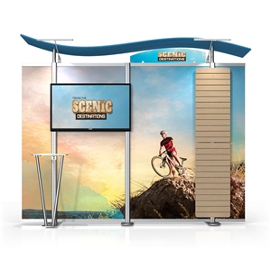 Timberline Monitor Display w/S Top & Slat Wall