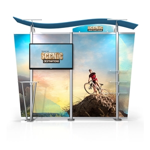 Timberline Monitor Display w/S Top & Tapered Fabric Sides