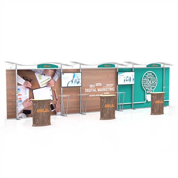 30ft Timberline Display with Fabric Sides