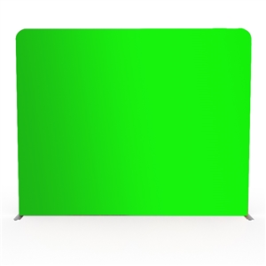10ft wave tube modular green screen graphic