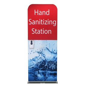 24inch hand sanitizer station with stock graphic