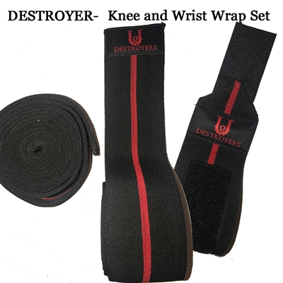 DESTROYERS WRIST & KNEE WRAP COMBO