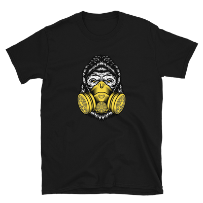 GORILLA QUARANTINE GAS MASK TEE