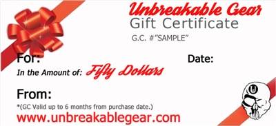 Fifty Dollar Gift Certificate ($50)