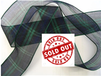 Blackwatch Tartan Ribbon Organza
