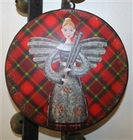 Scottish Angel ornament disk