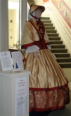Civil War ladies walking dress
