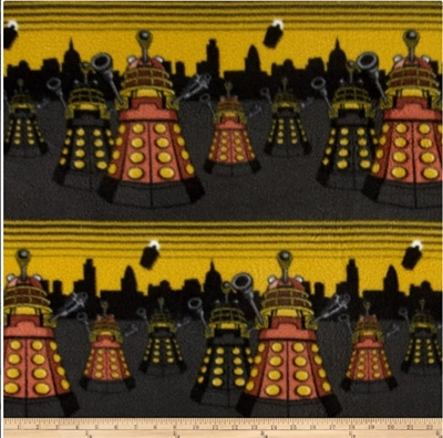 Dr. Who Dalek Cityscape Fleece