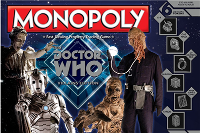 DR. Who  Special Edition Villains  Monopoly Game