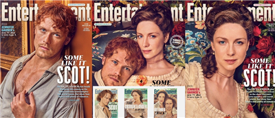 Entertainment Weekly Outlander  Two Year Cover Set