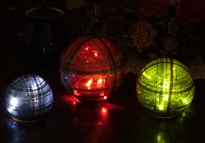 Plaid lighted Orbs