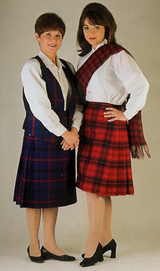 Tartan Ladies kilt skirt