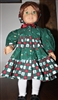 Pine Tree Gingham Winter Coat Dress