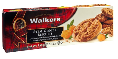 Walker's Stem Ginger Cookies