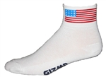 American Flag Socks - White
