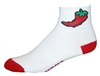 Chili Pepper Socks - white