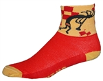 Kokopelli Socks - Red/Yellow