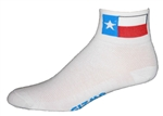 Texas Flag Socks - white
