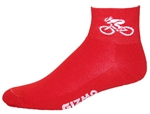 Bicycle Socks - red