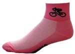 Bicycle Socks - pink