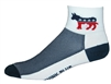Democrat Socks - white