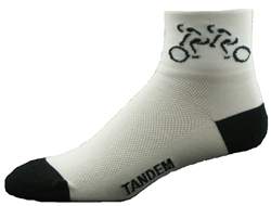 Tandem Bicycle Socks - white