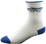 "Bicycle Socks 5"" - white/royal"