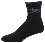 "Bicycle Socks 5"" - black/royal"