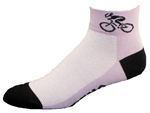 Bicycle Socks - lt. purple