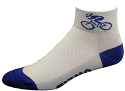 Bicycle Socks - lt. blue / royal