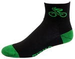Bicycle Socks - black/green
