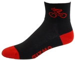 Bicycle Socks - black/red