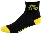 Bicycle Socks - black/yellow