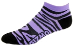 Zebra Socks - purple