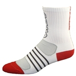 G-Tech 5.0 Socks - white/red