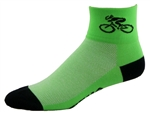 Bicycle Socks - neon green